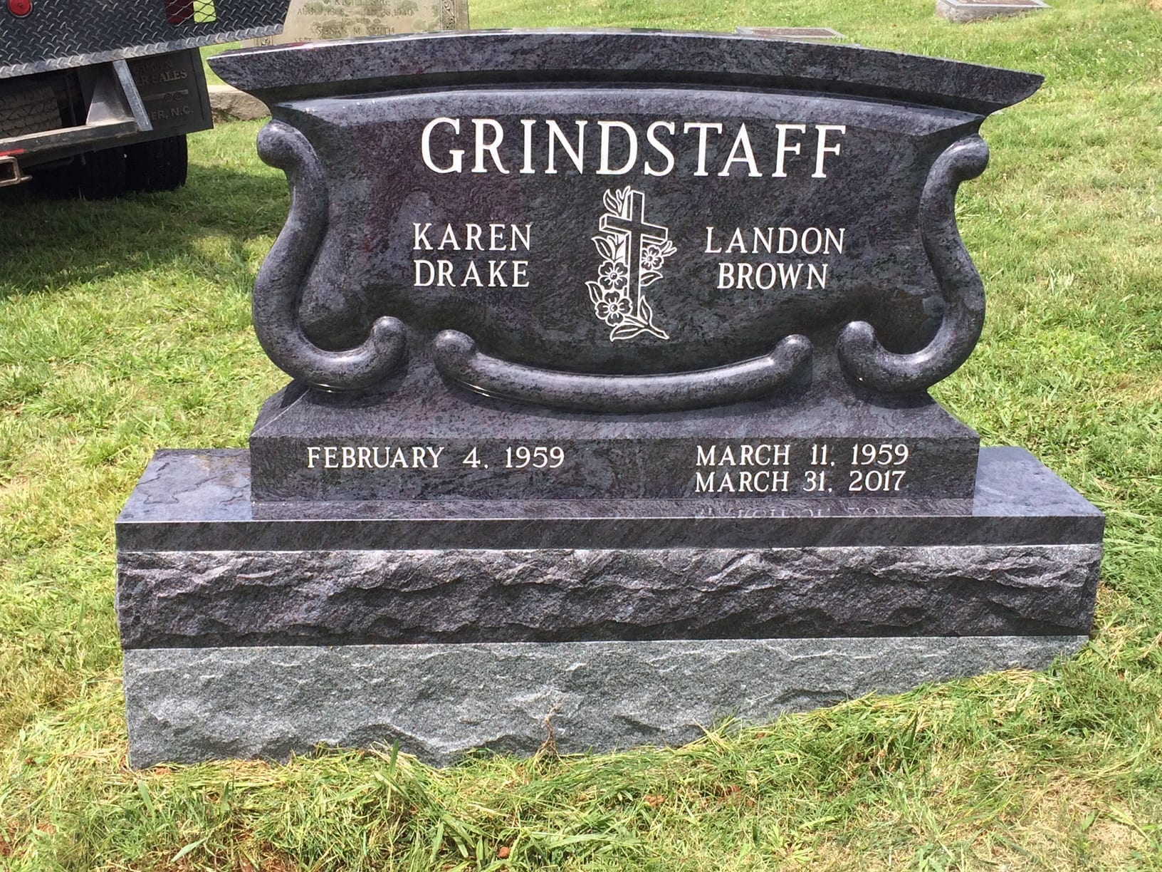 Martin Monuments | Upright Headstone Memorial